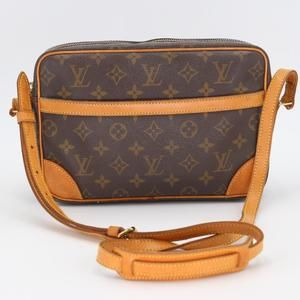 Monogram Canvas Calfskin Leather Trocadéro Bag